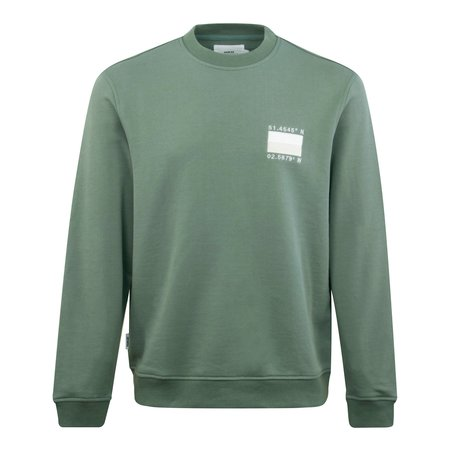 Parlez Westerly Embroided Sailing Crewneck sweater - Olive