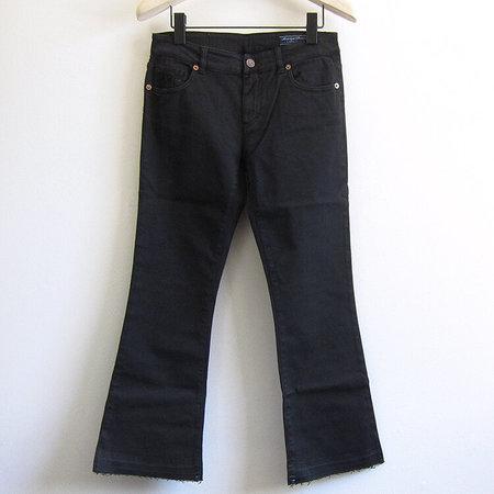 European Culture cropped flare jean - black