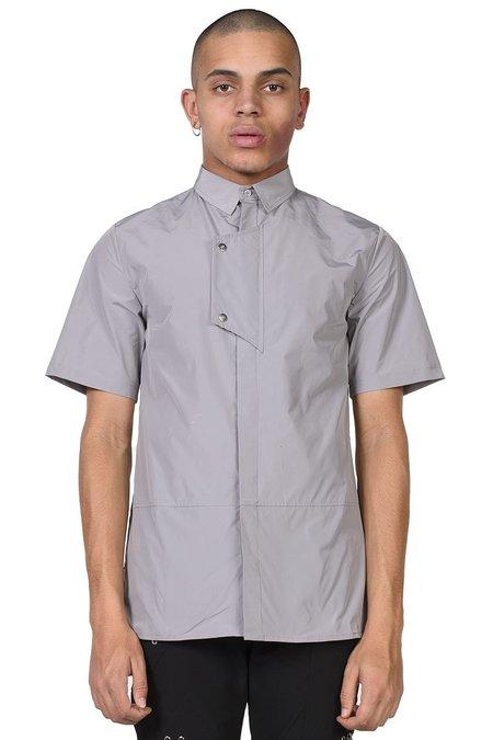 Heliot Emil Chest Flap Short Sleeve Shirt - grey