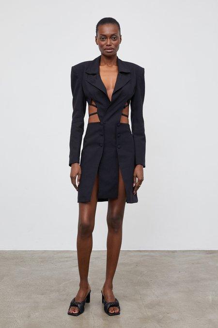 Ceren Ocak Cut Out Bass Dress - Black