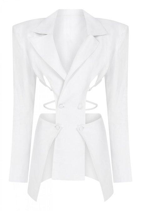Ceren Ocak Cut Out Linen Jacket