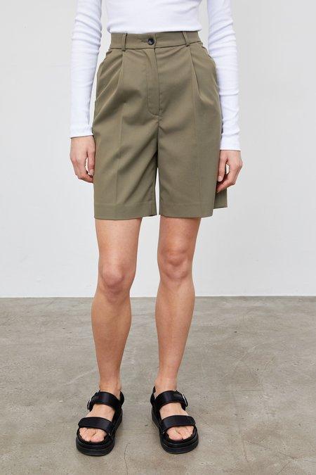 Yuliawave High-Waisted Suit Shorts - Khaki