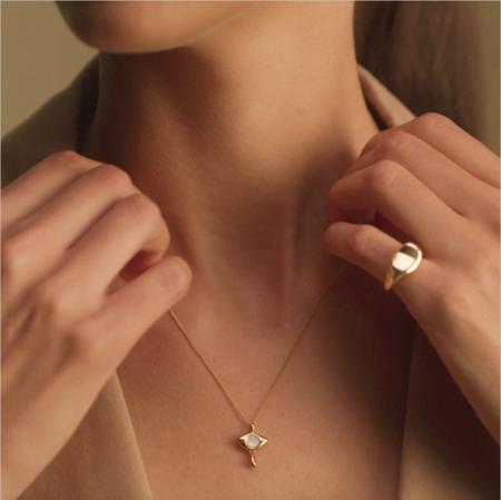 Jenny Bird Denni Pendant Necklace - 14K gold-dipped brass