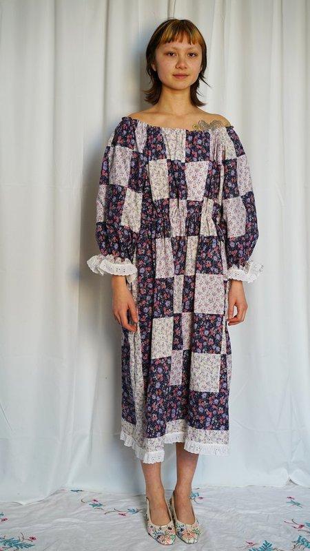 BY LIV HANDMADE ZINNIA PEASANT DRESS - purple