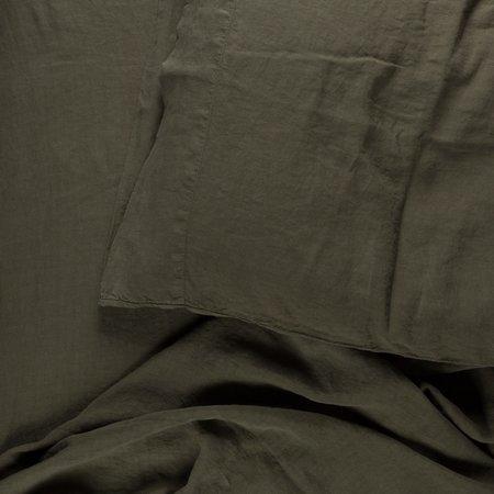 Hawkins New York Simple Linen Duvet Cover Queen -  Olive