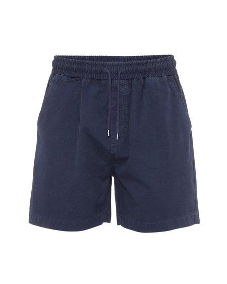 UNISEX COLORFUL STANDARD Organic Twill Shorts - Navy Blue
