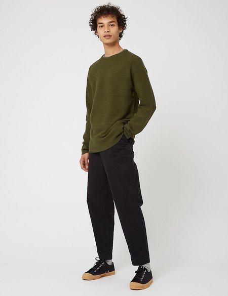Snow Peak WG Stretch Knit L/S Pullover - Green