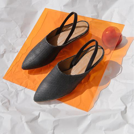 Coclico Dakota Flat Scales shoes - Black