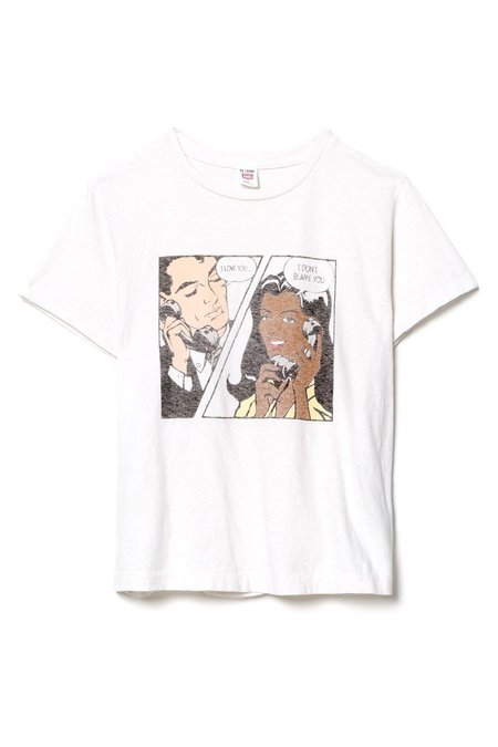 RE/DONE I Don't Blame You Classic Tee - Vintage White