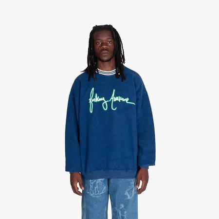Fucking Awesome Cursive Crewneck sweater - blue