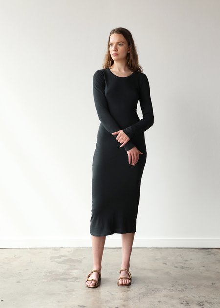 Raquel Allegra Long Sleeve Layering Dress - Black