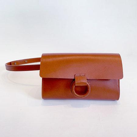 Crescioni rio belt bag - saddle brown