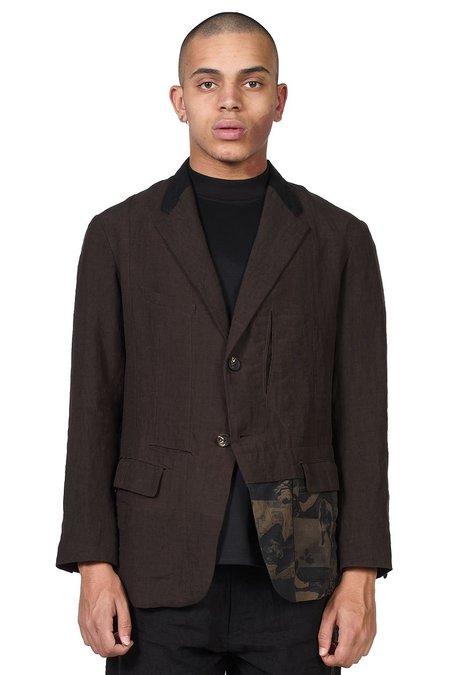 Ziggy Chen Multi Pocket Blazer - Brown/Black