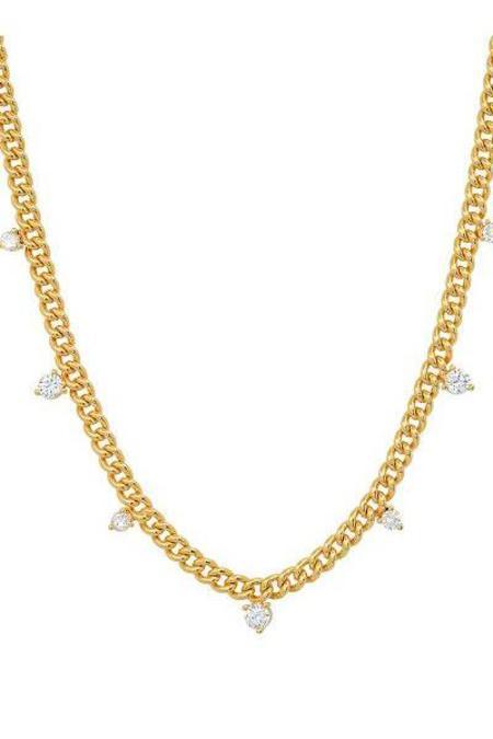 tai Curb Chain CZ Necklace