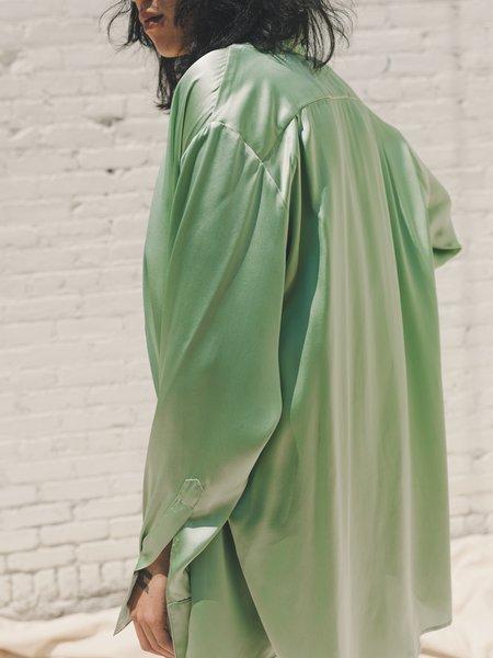 LUDOVIC DE SAINT SERNIN Silk Go To Shirt - Mint