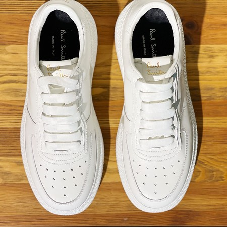 Paul Smith Logo-print Leather Sneakers - White
