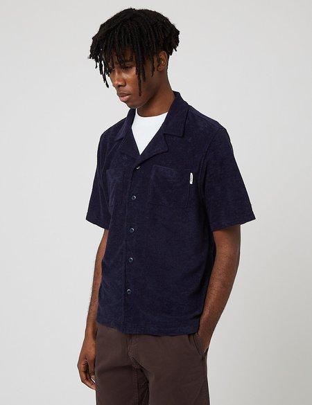 Parlez Wauquiez Toweling Cuban Shirt - Navy Blue