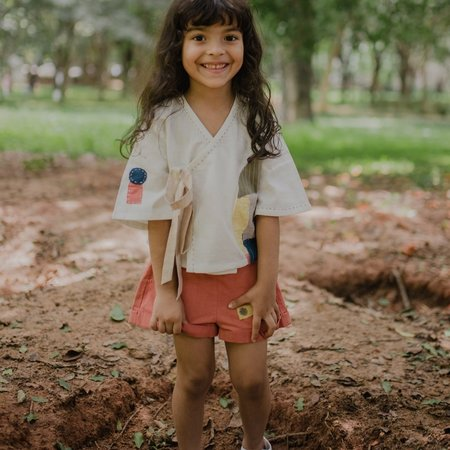 RUJUTA SHETH Boro Crop Shirt - WHITE