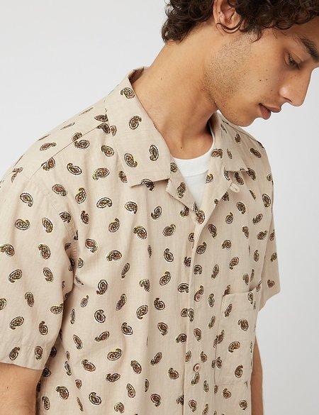 Snow Peak OG Cotton Poplin Paisley Shirt - Beige