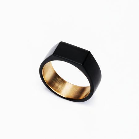 MING YU WANG Matte Black PARADOX Ring