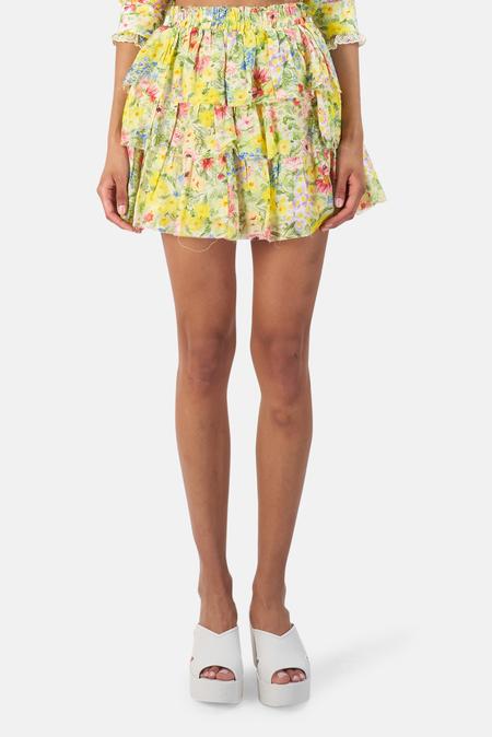 LoveShackFancy Brynlee Skirt -  Rainbow Skies