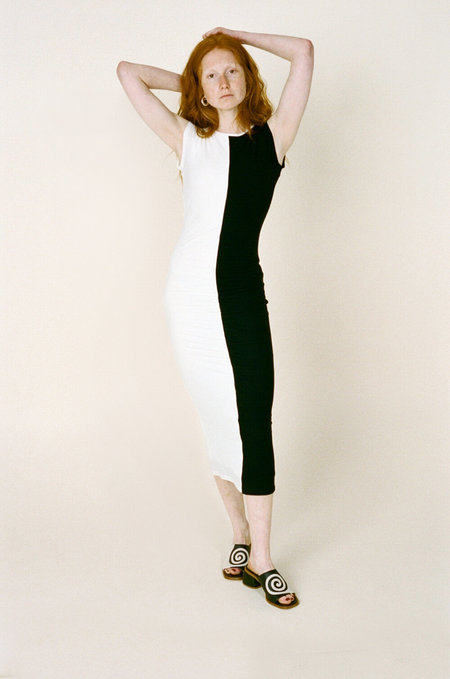 PALOMA WOOL Domino dress - Black/white