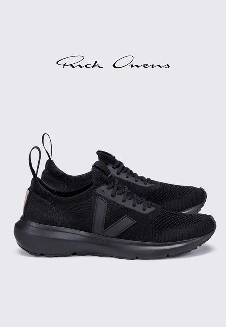 UNISEX VEJA Rick Owens Runner Style 2 V-Knit SNEAKERS - full black
