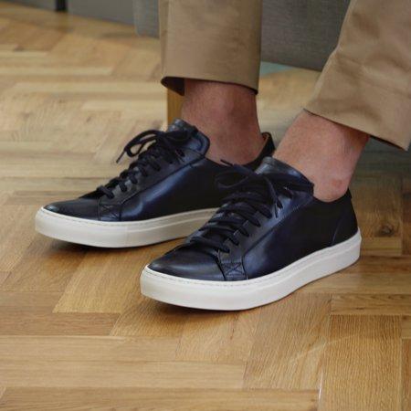 Unseen Footwear Helier Leather Tennis Shoe - Black