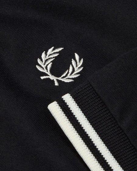 Fred Perry Two Stripe Trim T-Shirt - Black