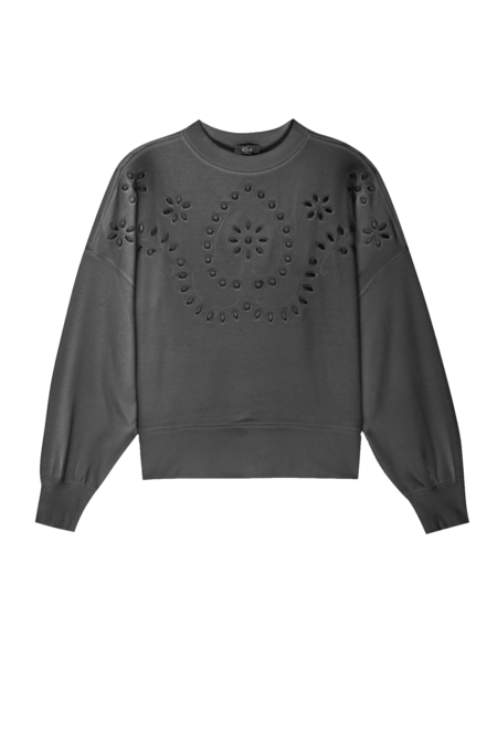 Alice Eyelet Sweatshirt - Light Vintage