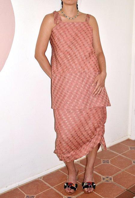 This Woman's Work Tube Drawstring Detail Skirt - pink