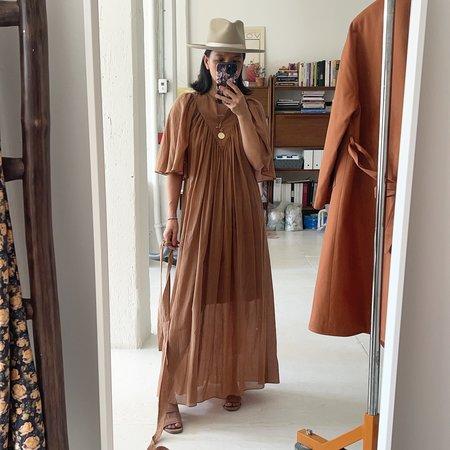 Christine Alcalay Maya Cotton Chiffon Dress - Earth