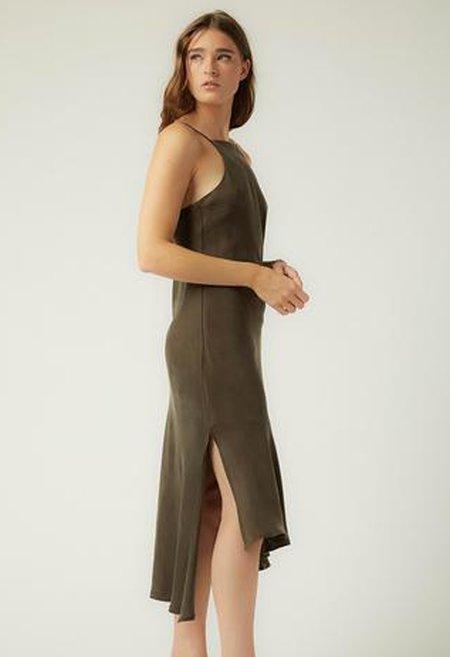 R.G. Kane Carolyn Slip Dress - Olive