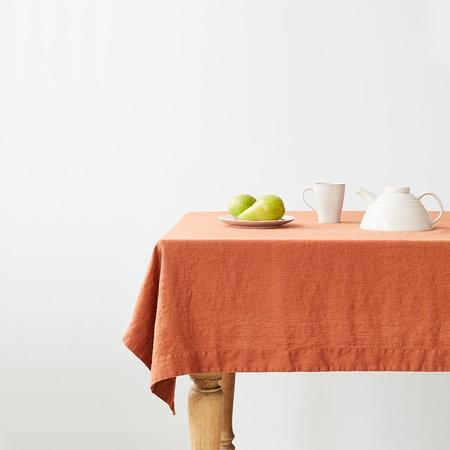 Linen Tales Linen Tablecloth - Baked Clay