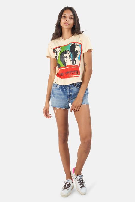MadeWorn Rock The Police Synchronicity '83 Crop T-Shirt - Sun Bleach