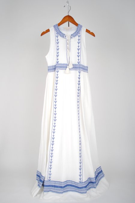 Vanessa Bruno San Michelle Dress - Blanc/Bleu