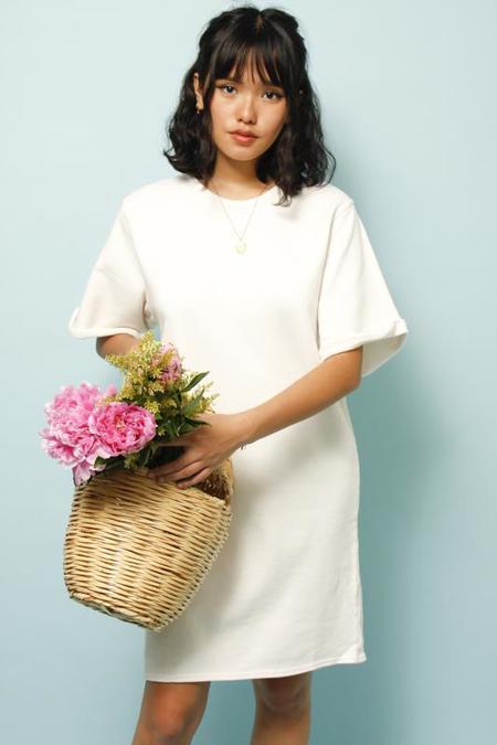 Emerson Fry Shorty Sweatshirt Dress - Salt