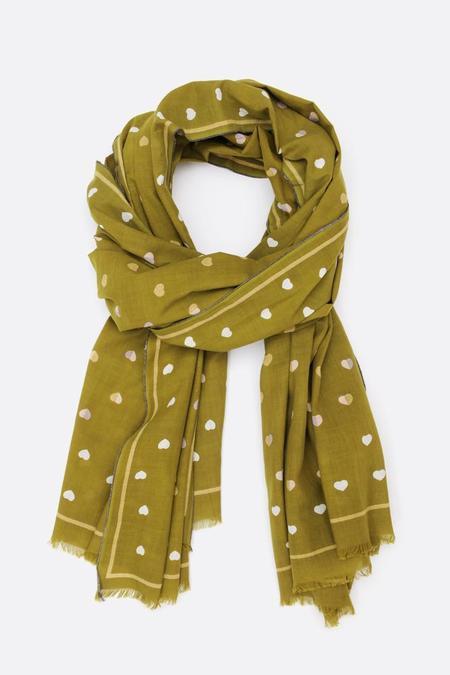 Moismont Large Oblong scarf - Khaki/Gold