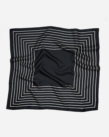 Manner Market Agnes 100% Silk Scarf - Black