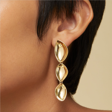 Jenny Bird Cordo Drop Earrings - 14K gold-dipped brass