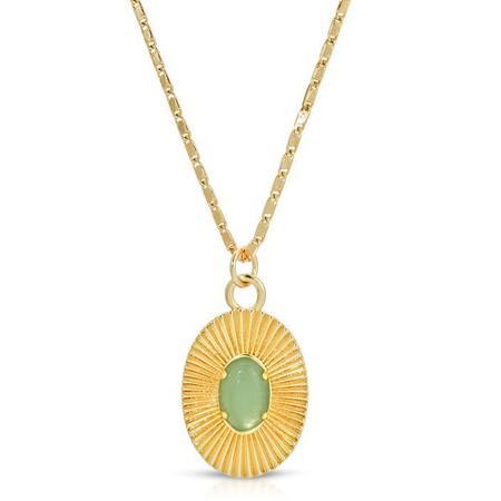 Elizabeth Stone Aura Pendant Necklace