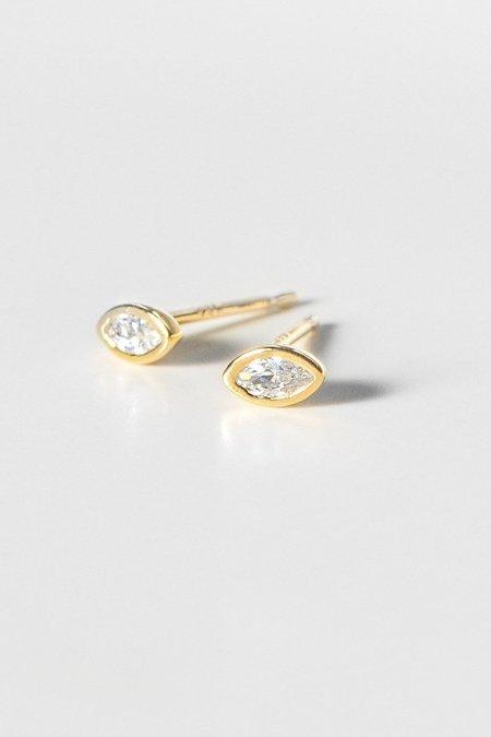 Thatch Iris Earrings - Gold