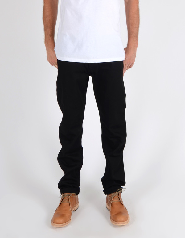 Men's Nudie Steady Eddie Organic Dry Black