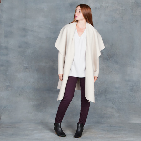 Harris Wharf London Blanket Coat Cream Boiled Wool