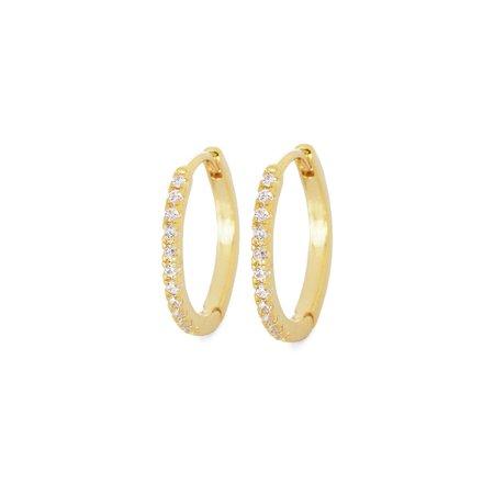 Tai Mini Huggie Earrings with CZ All Around - Gold