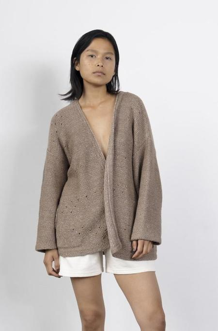 Wol Hide Loose Cardigan - Earthly Lilac