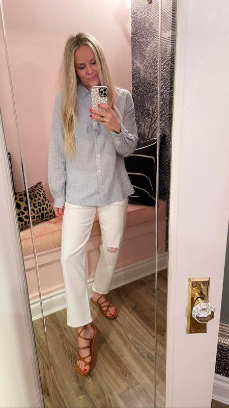 Trovata Grace Classic Button-Down Shirt - Gray