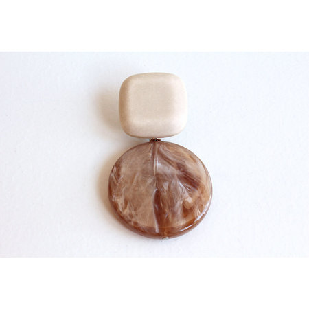 Rachel Comey Arc Earring - Ivory/Pink Pearl