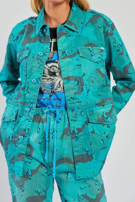 Mother Denim The Oversized Veteran Jacket - Horizon Blue