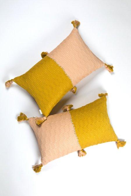 Archive New York Antigua Pillow - Peach/Ochre